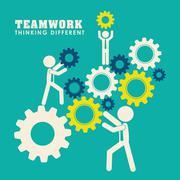 Business teamwork and leadership - stock illustration