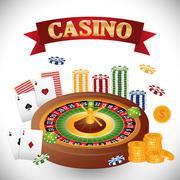 Casino gambling game Stock Illustration