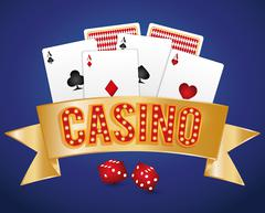 Casino gambling game - stock illustration