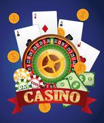Casino gambling game graphic Stock Illustration