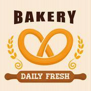 Bakery shop advert - stock illustration