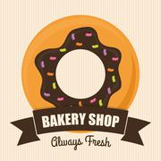Bakery shop advert - stock illustration
