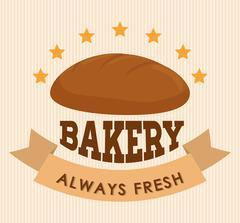 Bakery shop advert Stock Illustration