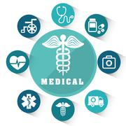 Medical healthcare graphic Stock Illustration