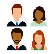 People profile graphic Stock Illustration