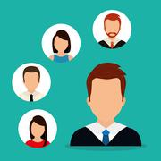 People profile graphic - stock illustration