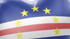 Flying heart with flag of the Republic of Cabo Verde. - stock footage