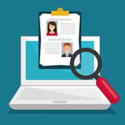 Search and find employment Stock Illustration