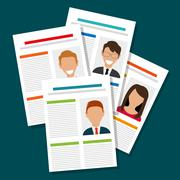 Search and find employment - stock illustration