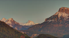 Warm Sunset Alps Mountains - 25FPS PAL Stock Footage