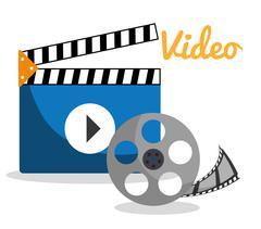 Movie and videofilm entertainment Stock Illustration
