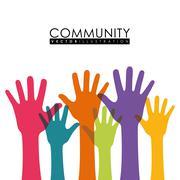 Community people graphic Stock Illustration