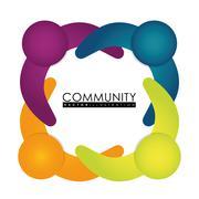 Community people graphic - stock illustration