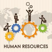 Human resources design - stock illustration