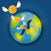 Money and global economy Stock Illustration