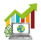 Money and global economy Stock Illustration