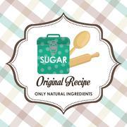 Homemade dessert recipe Stock Illustration