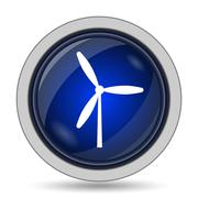 Windmill icon. Internet button on white background.. Stock Illustration