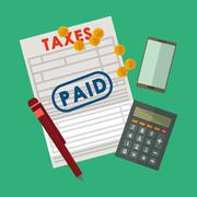 Pay taxes graphic design Stock Illustration