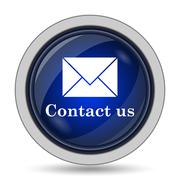 Contact us icon. Internet button on white background.. - stock illustration