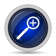 Zoom in icon. Internet button on white background.. Stock Illustration