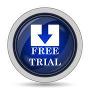 Free trial icon. Internet button on white background.. - stock illustration