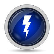 Lightning icon. Internet button on white background.. Stock Illustration