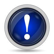Attention icon. Internet button on white background.. - stock illustration