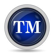 Trade mark icon. Internet button on white background.. - stock illustration