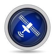 Antenna icon. Internet button on white background.. - stock illustration