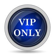 VIP only icon. Internet button on white background.. - stock illustration