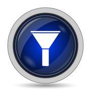 Filter icon. Internet button on white background.. - stock illustration