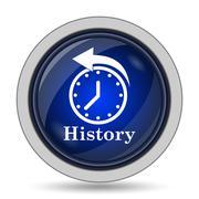 History icon. Internet button on white background.. - stock illustration