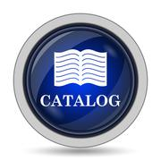 Catalog icon. Internet button on white background.. - stock illustration