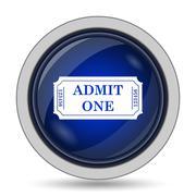 Admin one ticket icon. Internet button on white background.. Stock Illustration
