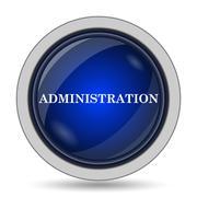 Administration icon. Internet button on white background.. Stock Illustration