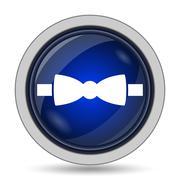 Bow tie icon. Internet button on white background.. Stock Illustration