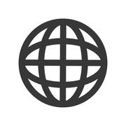 Global sphere icon. Communication design. Vector graphic Stock Illustration