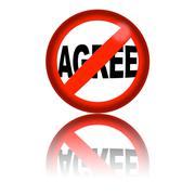 No Agree Sign 3D Rendering - stock illustration