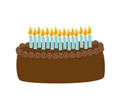Sweet cake icon. Dessert and celebration design. Vector graphic - stock illustration