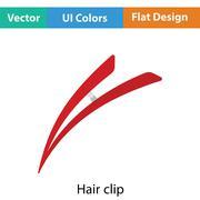 Hair clip icon - stock illustration