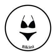 Bikini icon - stock illustration
