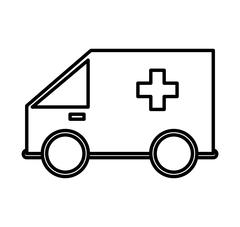 Ambulance icon. Security and insurance design. Vector graphic - stock illustration