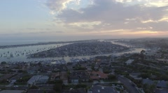 2.7K HD Newport Beach Sunset Stock Footage