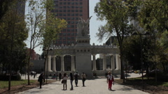 Time lapse at Mexico´s city alameda park. - stock footage