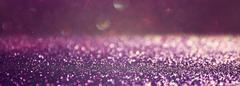 Glitter vintage lights background. pink and silver. defocused Stock Photos