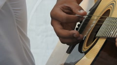 Indian Artist playing guitar Stock Footage