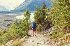 Hike in Alaska - stock photo