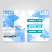 Brochure flier design template. Vector concert poster illustration. Leaflet - stock illustration