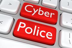 Cyber Police - cyber concept - stock illustration